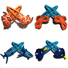 3-4pairs Finding Dory Novelty Hot Headwear Girls Hair Accessories,Hairpins Gilrs Hair Clips,Kids Gifts Hair Jewelry