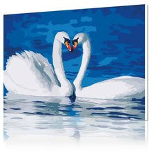 DIY digital oil painting special offer wholesale painted animals living room scene couple decorative painting 4050 love(China)