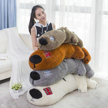 Super Cute 80Cm Lovely Lying On Front Dog Pillow Plush Toys Bear Cloth doll Cushion purple Dog Toys Children birthday gift(China)