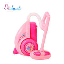 Kids Pretend Play Toy Mini Vacuum Cleaner Toy Classic Toys Home Application Furniture Toy Pink Vacuum Cleaner Jouet Puzzle Gift