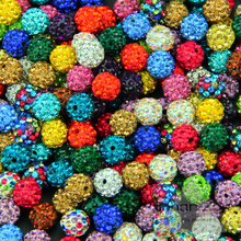 JHNBY 10MM 20pcs Clay Disco Ball Pave Crystal Shamballa Beads High quality Fashion Loose beads Jewelry necklace bracelet DIY()
