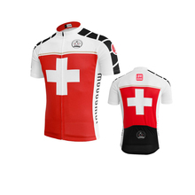Switzerland cycling jersey men short sleeve cyclingclothing red bicycle clothing jieshuo ropa de ciclismo summer bike clothing(China)