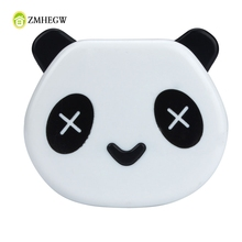Hot Sale Cute White Color Panda Holder Cartoon Panda Candy Color Contact Lens Box Case For Eyes Care Kit Box for Gift