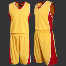 Mens Blank Basketball Jersey Sports Training Shirt and Short Set Adults Basketball Clothes Team Uniform Plus Size(China)