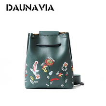 Buy DAUNAVIA NEW Fashion Woman Mini Embroidery Bucket Designer Messenger Bags Women Shoulder Bag Handbags Ladies Small Flap Bolsa for $5.63 in AliExpress store