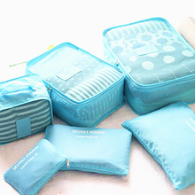 6pcs/set Travel Organizer Bags Packers Case High Capacity Tidy Luggage Suitcase Pouch Storage Bags Waterproof Storage Case