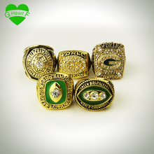 Free shipping for championship ring 5 years 1965 1966 1967 1996 2010 Green Bay Packers Drop Shipping for father's day gift