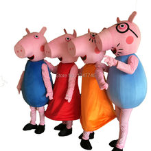 high quality Pink pig Cartoon Character Costume cosplay mascot Custom+Free shipping