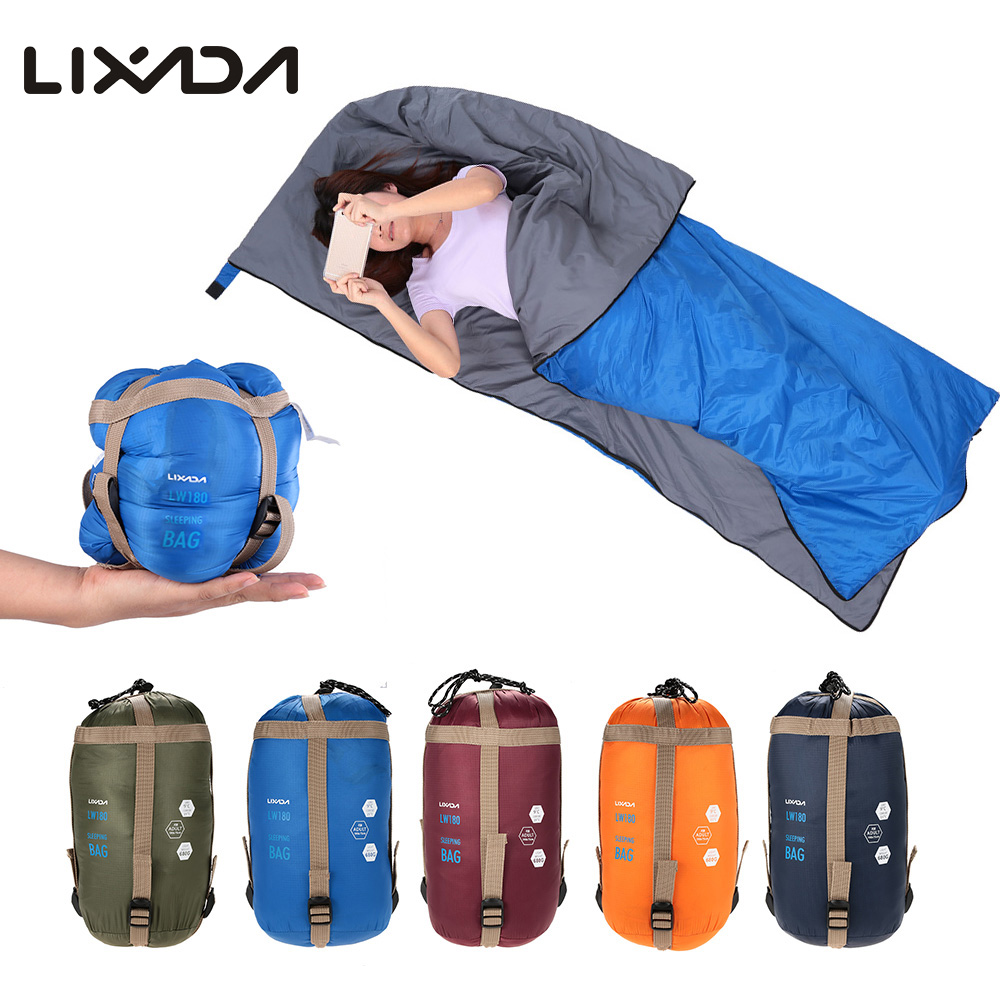 LIXADA Outdoor Envelope Sleeping Bag Mini Ultralight Multifunction Travel Bag Hiking Camping Sleeping Bags Nylon 190 * 75cm(China (Mainland))