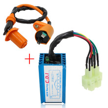 Performance 6 pin AC Racing CDI Box Ignition Coil For GY6 50cc 125cc 150cc 139QMB 152QMI 157QMJ Scooter Moped ATV Free Shipping