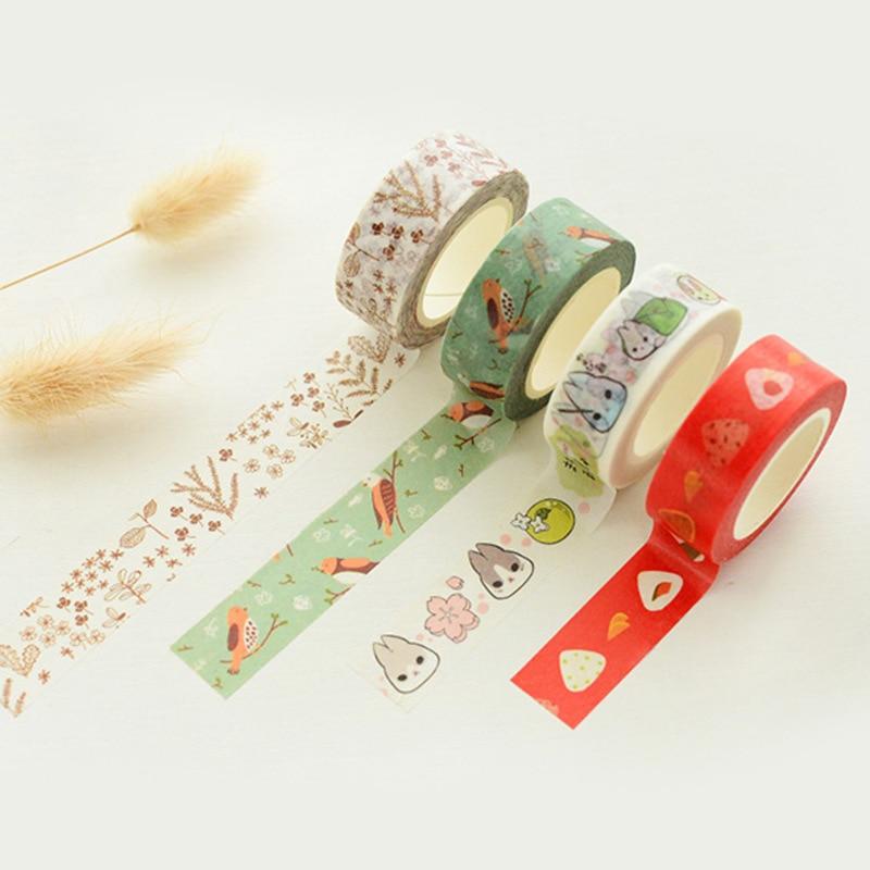 Japanese Washi Tape Ruban Adhesif Decoratifs Scotch Duct Tape Cinta Encaje Adhesiva Decorativa Washi Tapes Stationery 20 Designs<br><br>Aliexpress