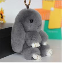 Diversiti Halloween Hare Rabbit Fur Doll Handmade Bunny for Womens phone case Bag Charms or Car Pendant Pom Pom Keychain