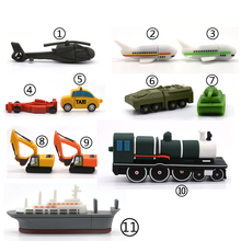 usb flash drive 4g 8g 16g 32g 64g cartoon car ship airplane tank excavator trai memory stick storage device Pendrive toy gift(China)
