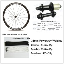 Cheap carbon road bike wheels 700c aero U-Shaple rims with Upgrade Powerway R23 hub Carbon wheelsets for Climbing cycling(China)