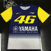 Free Shipping Moto GP Kid T-shirt Children' Leisure t-shirt Fit for VR46 Rossi M1 Racing Team Kids T-SHIRT(China)