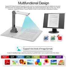 M500C Document Scanner Portable High Speed Document Camera Scanner (5 Mega-pixel) High Definition Image Capture Video Record