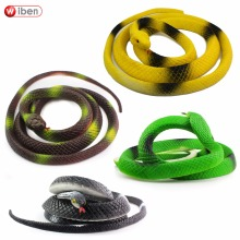 Wiben Halloween Realistic Soft Rubber Snake Fake Animal Model 125CM Garden Props Joke Prank Gift  Gags & Practical Jokes