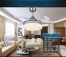 Transparent ABS blades Fan light dining room pendant fan light modern minimalist LED home living room bedroom Fan lamp pendant(China)
