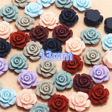 Mixed Color flower resin vintage flatback cabochon DIY jewelry/phone decoration No Hole 50pcs 13mm