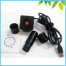 5MP Biological Stereo Microscope Electronic Eyepiece USB Video CMOS Camera Industrial Eyepiece Camera with 0.5X C Mount