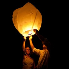 Chinese Wishing Lantern Paper Sky Lantern Hot Air Balloon For Party Wedding Proposal Outdoor Activity Good Luck