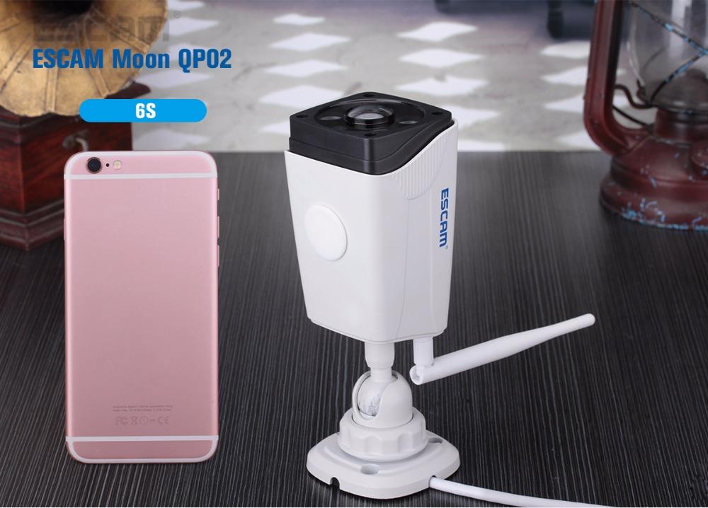 Escam Moon QP02 2MP HD 1080P WIFI Alarm Camera Outdoor Bullet IR-Cut 180 degree Security ip Camera Support Max 64G TF card (19)
