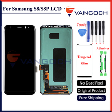 5pcs Original Super Amoled LCD Screen for Samsung Galaxy S8 Display G950 S8 Plus G955 Assembly Replacement with adhesives&tools(China)