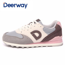 Deerway hot sale running shoes cheap sneakers women sapatilhas mulher sports feminino esportivo Leather mesh Medium(B,M)(China)