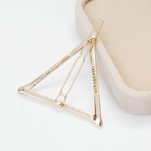 2pcs Women Girls Easy Hollow Triangle Metal Hairpin Hair Clip Bobby Pin Gift(China)