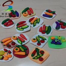 1:30 scale mini ceramic Vegetable dishes Vegetable / fruit plate miniature Fruit bowl compote model for ho train design layout