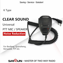 Best Walkie Talkie Baofeng Speaker MIC For Baofeng TYT Pofung Handheld UV5r UV-82 Bf-888s Bf 888s UV-5R Accessories Microphone