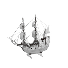 May flower ship model laser cutting 3D puzzle DIY metal spacecraft jigsaw free shipping boats model birthday gifts for kids