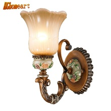 2017 New Products European Style Led Wall Lamp Living Room Dining Room Bedroom 111V~240V Vintage Wall Lamp E27 Antique Lamp(China)