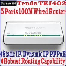 5 Ports Tenda TEI402 10/100Mbps Wireled SOHO BROADBAND ROUTER 100M 4 Port Access Point & Router Ethernet Switch, No Color Box