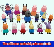 hao gao le Baby  toy  pig Toys PVC Action Figures Family Member Gerogy Toy Juguetes Baby Kid Birthday Gift brinquedo