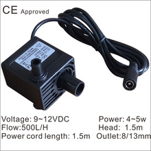 CE Approved Brushless  submersible pump DC-808-2,  9~12 VDC  use for household small appliances,solar pumps,circulate fish jar,