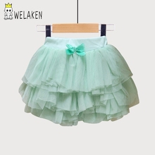 weLaken Lovely Baby Girls Skirts Princess Colorful Tutu Skirts Dance Party Performance Mini Skirt 3 Colors Kids Girls Skirts