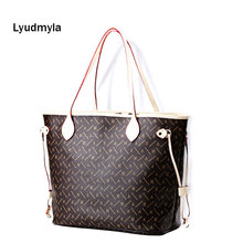 Letter Neverfull Bag Shopper Tote Bags Womens Purses And Handbags Monogram Hand Bags For Women 2017 Fasion Composite Bag Print