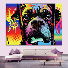 Large size Print Oil Painting Wall painting adoption boxer Home Decorative Wall Art Picture Living Room paintng No Frame(China)