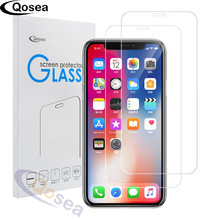 Qosea For iPhone X Screen Protector Clear LCD Guard Shield Cover For iPhoneX 8 Plus Ultra-thin Explosion-proof Tempered Glass(China)