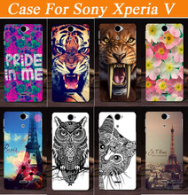 For Sony Xperia V Case, New Painting Hard PC Plastic Phone Case For Sony Xperia V LT25i case mobile phone cases covers