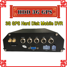 Free shipping 3G Mobile DVR, H.264 4CH Real time recording,Vehicle DVR,support iPhone,Android Phone free server