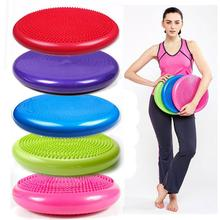 33cm PVC Balance Yoga Balls Massage Pad Wheel Stability Balance Disc Massage Cushion Mat Ball Fitness Exercise Training ball(China)