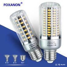 Foxanon Led Bulb 25W 20W 15W 10W 5W Corn Light 85-265V E27 E14 E12 Leds Lamp 5736 Corn Bulb Lampada Aluminum Radiator Lighting