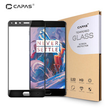 for Oneplus 3 Tempered Glass Screen Protector for Oneplus One Plus Three 3T 3 T a3010 a3003 Almost Full Cover Protective Film(China)