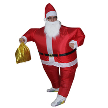 Special Christmas cosplay creative costumes Adult inflatable Santa Claus walking performance clothing free shipping(China)