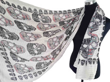 10pcs/lot Sugar Skull Print Scarf Wrap Shawl Women's Accessories Scarves, Free Shipping