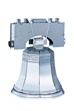Metal 3D puzzle Works The Liberty Bell  - 3D metallic building scale model, DIY metallic 3D puzzle minifigures