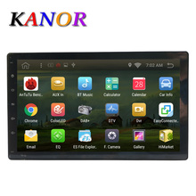 Kanor Android 6.0 quad core 2g+16G no car dvd player gps navigation universal car gps radio video player 2 din 1024*600 wifi map(China)