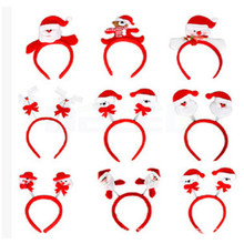 Hot Sale 1pcs Fashion Christmas Hair Accessories Santa Claus Headdress Doll Decoration Head Accessories For Kids Gift(China)